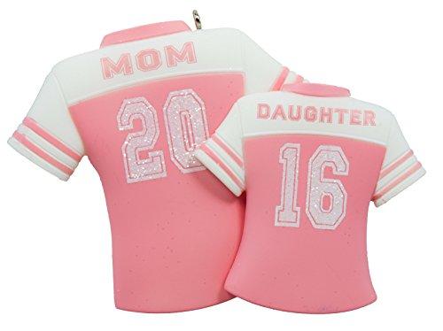 Hallmark Keepsake Ornament Mom and Daughter Pink Jerseys 2016
