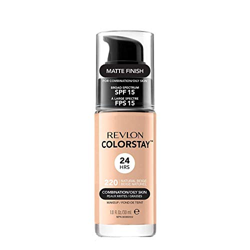 Revlon Colorstay Make Up Combination/Oily Skin Base Facial 24Horas 30ml - Natural Beige