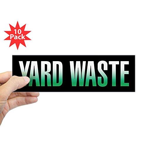 CafePress - Yard Waste Sticker (Black Series) Bumper Sticker - 10