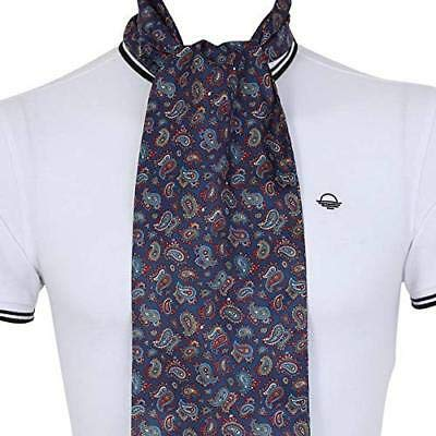 Q Mens Paisley Scarf Small Classic Vintage Style by Soho Scarves