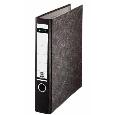 Esselte Leitz 10600000 - Archivador (180°, A4, lomo fino, sin muescas), color negro: Amazon.es: Oficina y papelería