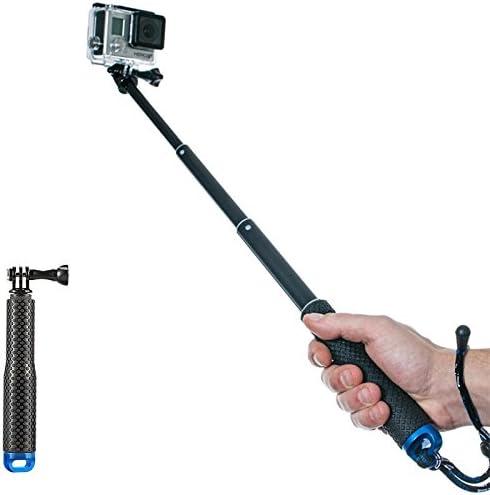 Hero 7 6 5 4 3+ 3 2 1 SANZHI Waterproof Hand Grip Adjustable Extension Selfie Stick Handheld monopod Compatible with gopro Hero AKASO Sjcam sj4000 xiaomi yi More Action Handheld Tripod-Blue 2018