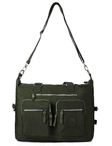 Large Weekender Bag Nylon Travel Tote (1212 Army green)