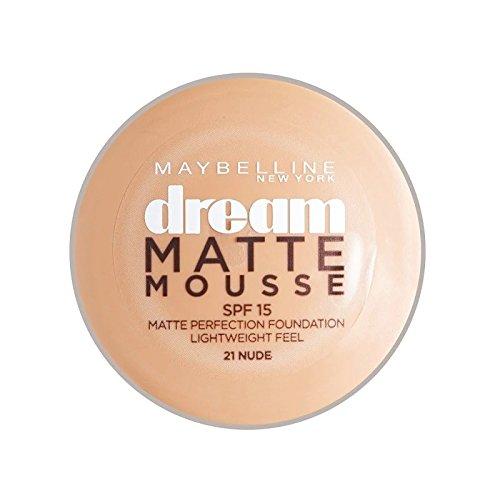 メイベリン夢マットムース土台21ヌード10ミリリットル x4 - Maybelline Dream Matte Mousse Foundation 21 Nude 10ml (Pack of 4) [並行輸入品] B072P1XRX1