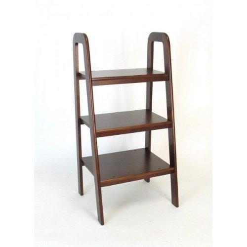 9076B Wayborn Home Furnishing 3 Tier Ladder Stand, nero by