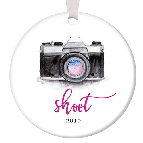 Photographer Christmas Ornament 2019 Stylish Camera Shoot Ceramic Present for Professional Photography Wedding Video School Pictures Portrait 3
