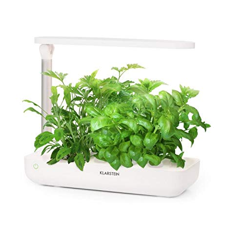 Klarstein GrowIt Flex • Smart Indoor Garden • 15-Piece Set • Grow Up to 9 Plants in 25 to 40 Days • 20 to 28 ° C • 18 Watts LED Lighting • 2-Litre Water Tank • Daylight Simulation System • White