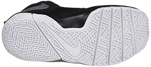 NIKE Kids' Preschool Team Hustle D 8 Basketball Shoes Black/Metallic Silver/White 2014 newest online KxPsY