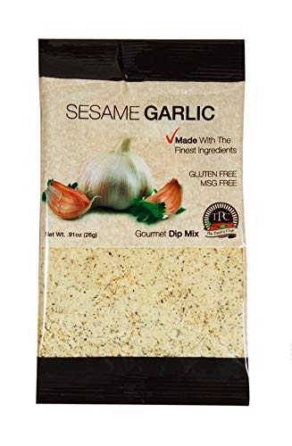 Gourmet Seasoning Packets for Dip Mix, Soups and Spreads, All Purpose Seasoning, Gluten Free, Nitrate Free. By The Pantry Club. (Sesame Garlic 12 Packets)