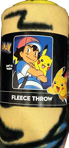 Pikachu and Ash Best Buddies Fleece Throw Blanket