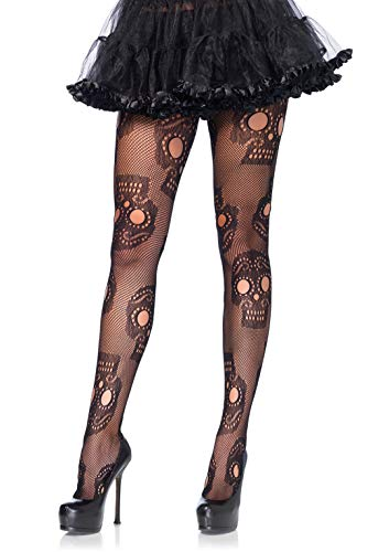 Leg Avenue Women's Hosiery, Black Sugar Skull, One ()