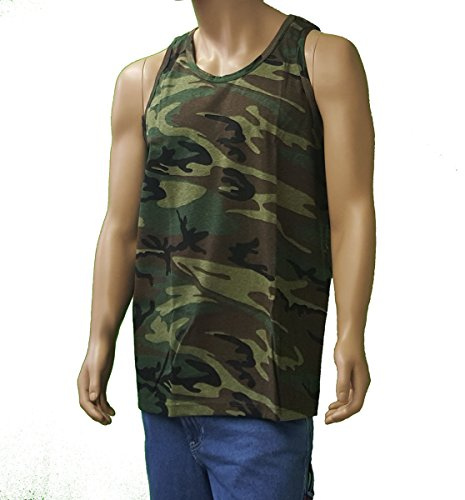 Sovereign Manufacturing Co Men's Tall Camo Tank Top 2XLT Woodland