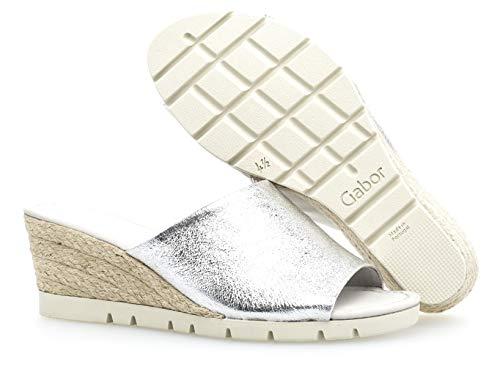 kork mehrweite 840 cómodo sandalias Verano Cuña Silber Del Gabor plana sandalias comfort Cuña sandalias 22 De zapatos Mujer ZC75w5Tqx