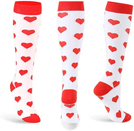 MISS.H Compression Socks for Women and Men, Compression Socks Women 15-25 mmHg Knee High, Best Medical, Nurses, Running, Flight,Varicose Veins, Edema, Pregnancy and Travel