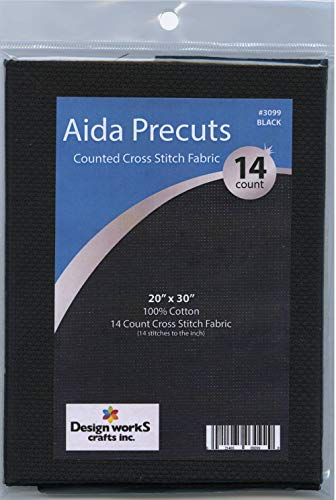 Design Works Gold Quality Aida 14 Count 20″X30″-Black