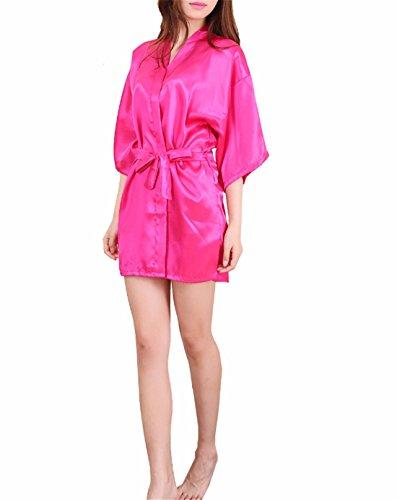Yall Señora Manto Imitación Seda Seda Hielo Pijamas MRed