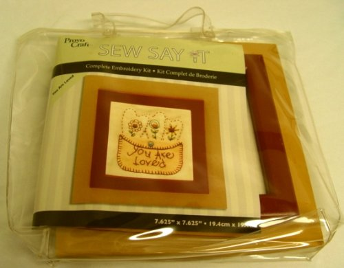 (Sew Say It Complete Embroidery Kit