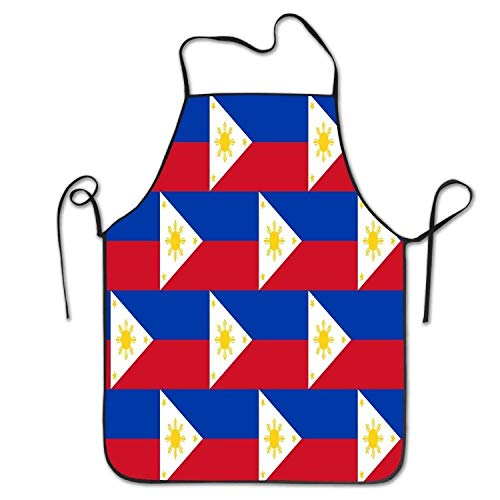 Liner Philippines Flag Women's Men's Funny Creative Print Cooking Aprons