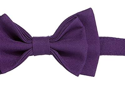 Dark Purple Bow Tie, Pre-tied, - Made in USA