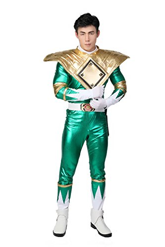 Xcostume Green Rangers Cosplay Costume Outfit Suit for Adult Halloween M for $<!--$177.45-->