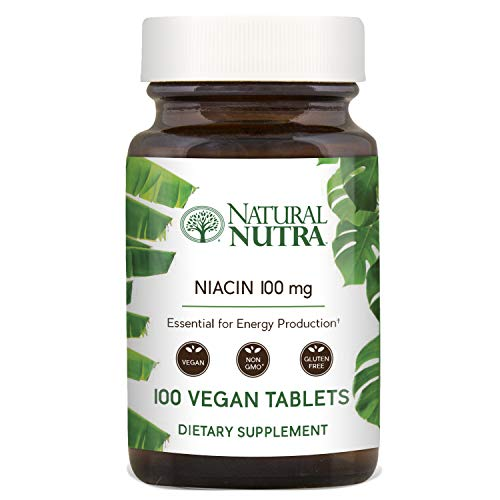 Title: Natural Nutra Niacin as Nicotinic Acid (Vitamin B3) Supplement for Energy, Cholesterol and Cardiovascular Health, Non-GMO, Vegan, Gluten Free, 100 mg, 100 -