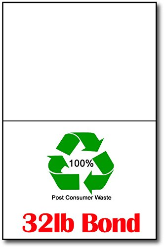 80lb White 100% Recycled 4 1/4