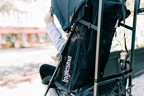 41sQc2MWMgL - Inglesina Net Stroller - Lightweight Summer Travel Stroller - UPF 50+ Protection Canopy With Removable And Washable Seat Pad {Black}