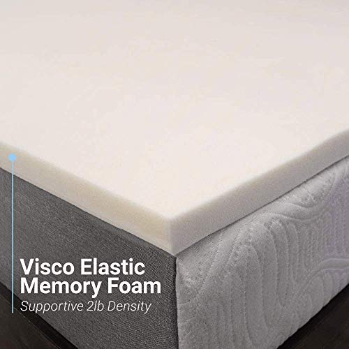Memory Foam Mattress Topper 2 Inches Of 100 Real Visco