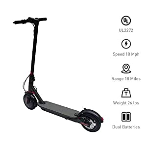 Hoverworld Electric Scooter for Adults 8.5″ 18 MPH LED Display 18 Mile Long Range 36V Bat