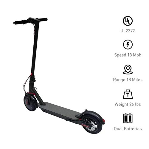 Hoverworld Electric Scooter for Adults 8.5' Air Filled Tires 18 MPH LED Display 18 Mile Long Range 36V Bat (10)