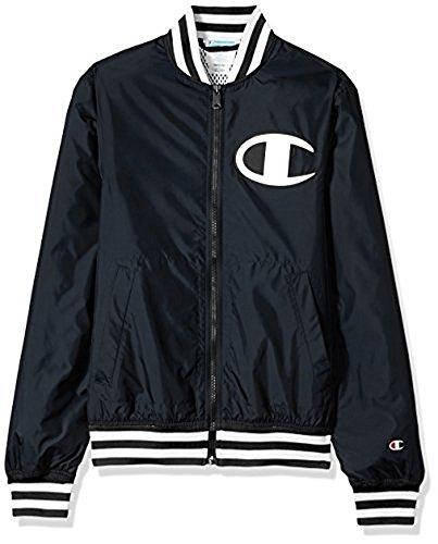 Champion LIFE Men's Satin Baseball Jacket, Solid Black, XL by Champion LIFE