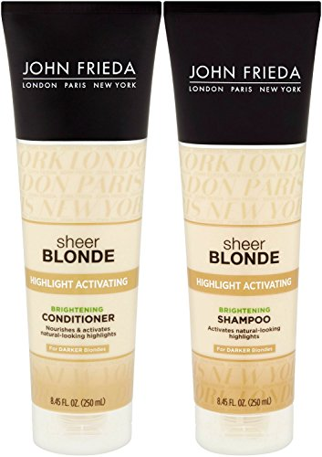 John Frieda Sheer Blonde Highlight Activating Enhancing, DUO set Shampoo + Conditioner, For Darker Blondes, 8.45 Ounce, 1 each (John Frieda Blonde Sheer Shampoo)