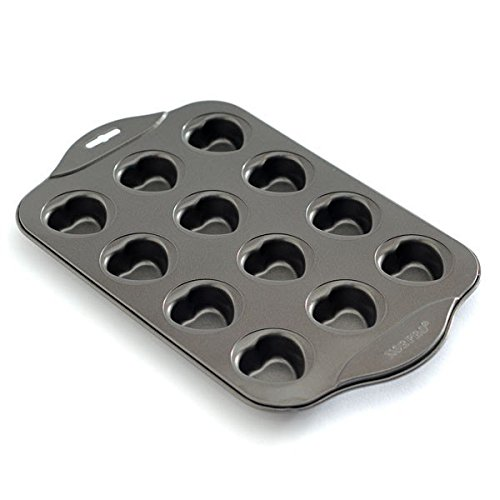 - Muffin Top Baking Pans, Mini Heart Muffin Pan Nonstick With 12 Cups Stainless