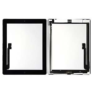 HIPOPAPO Pantalla táctil Touch Screen LCD para Apple IPAD 4 IPAD 3 WIFI/3G negra con herramientas. Kit de reparación retina display