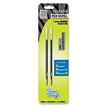 Z-Mulsion Pen Refills, 1.0mm, 2/PK, Black, Sold as 1 Package by Zebra