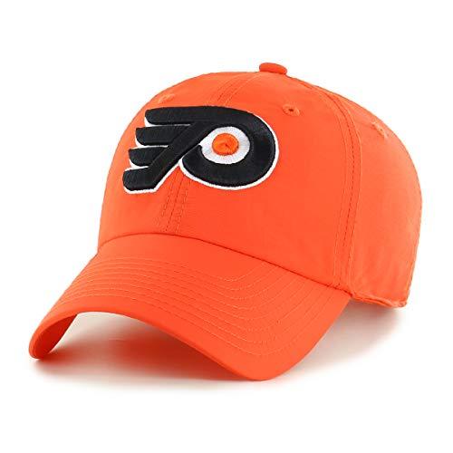 OTS NHL Philadelphia Flyers Male Wind Swept Challenger Adjustable Hat, Orange, One -