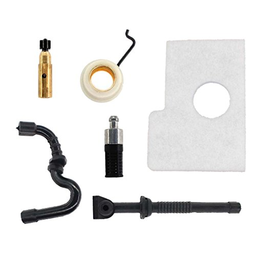 USPEEDA Oil Pump Worm Gear Oil Line Air Filter for Stihl 017 018 MS170 MS180 Chainsaw Fuel Line Oil Filter