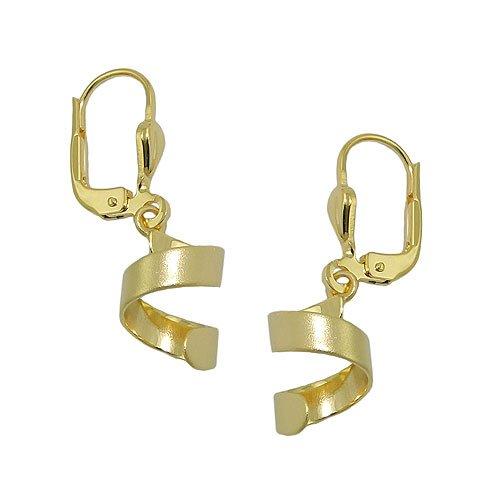 Boucles d'oreilles pendantes Brisur spirale Mat en or 333