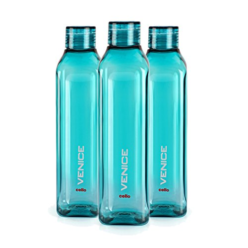 Cello Venice Plastic Water Bottle, 1 Litre, Set of 3, Green Price & Reviews