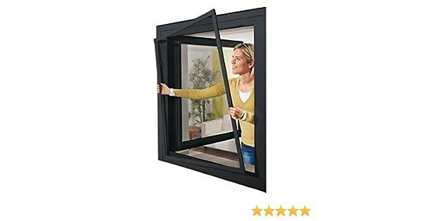 Mosquitera de aluminio para ventana, de Powerfix, 130 x 150 cm, color antracita: Amazon.es: Bricolaje y herramientas