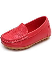 PPXID Boy's Girl's Slip-on Loafer Flats Oxford Shoes Solid Color Mocassins
