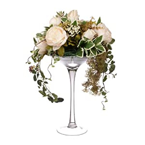 Closer2Nature Artificial 55cm Blush Pink Rose and Peony Arrangement 3