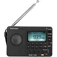 Kaimeda SRW-710S Mini Digital AM FM SW LCD Shortwave World Band Radio & Sleep Timer, Micro SD/TF USB Disk Speaker MP3 Music Player Stereo, Portable Pocket Novelty Receiver, Handheld CB Transceiver