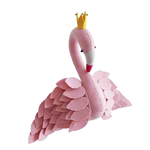 Jili Online Fluffy Flamingo Toy Kids Room Decor Doll for Animal Theme Party Store by Jili Online