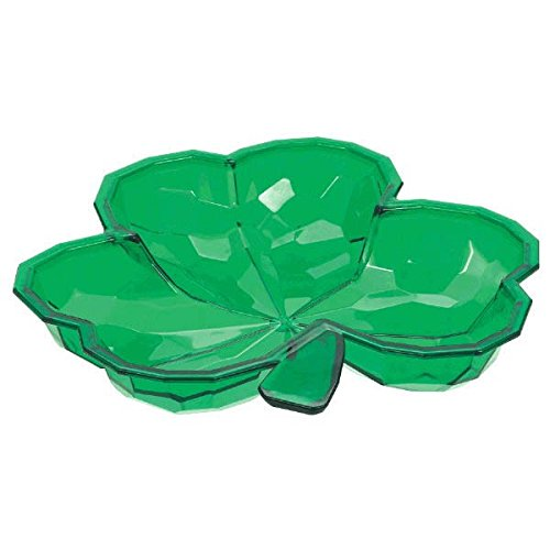 Amscan Lucky Irish Green Saint Patrick's Day Small Shamrock Shaped Bowl Party Tableware, Plastic, 8