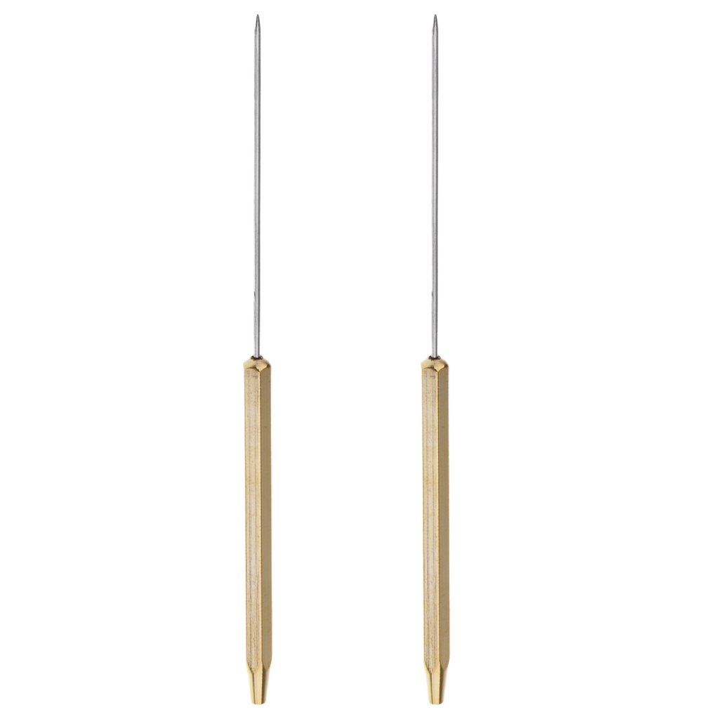 Sharplace 2 St/ücke Fliegenbinden Bodkins Half Hitch Werkzeuge Griff Fliegenbinden Dubbing Nadel 12 Cm