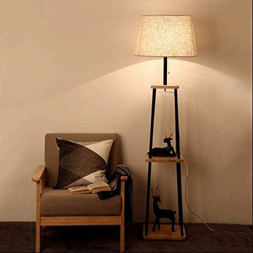 Hmvlw フロアスタンド フロアランプリビングルーム北欧のクリエイティブソリッドウッドフロアランプシンプルでモダンなソファサイドテーブルランプベッドルームベッドサイド和風フロアランプ