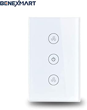 WiFi - Interruptor de pared para ventilador de techo compatible ...