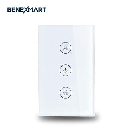 Benexmart Smart WiFi ceiling fan switch Compatible with Alexa Google Home  Smart Life App Control (fan switch)