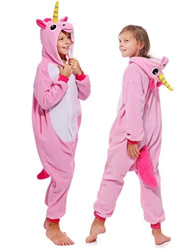 Kids Soft Animal Unicorn Onesie Pajamas Cartoon Costume Cosplay Party Unisex with Pockets